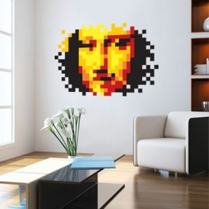 Sticker pixel Mona Lisa