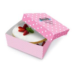 Boîte et support pour gâteau maison