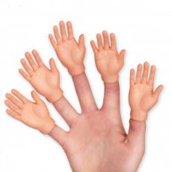 Mini main pour doigt, lot de 5.