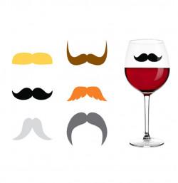 Marqueurs de verre moustache