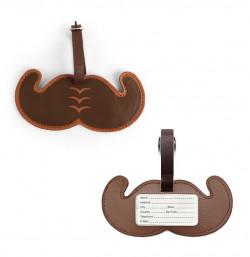 Etiquette à bagages Moustache