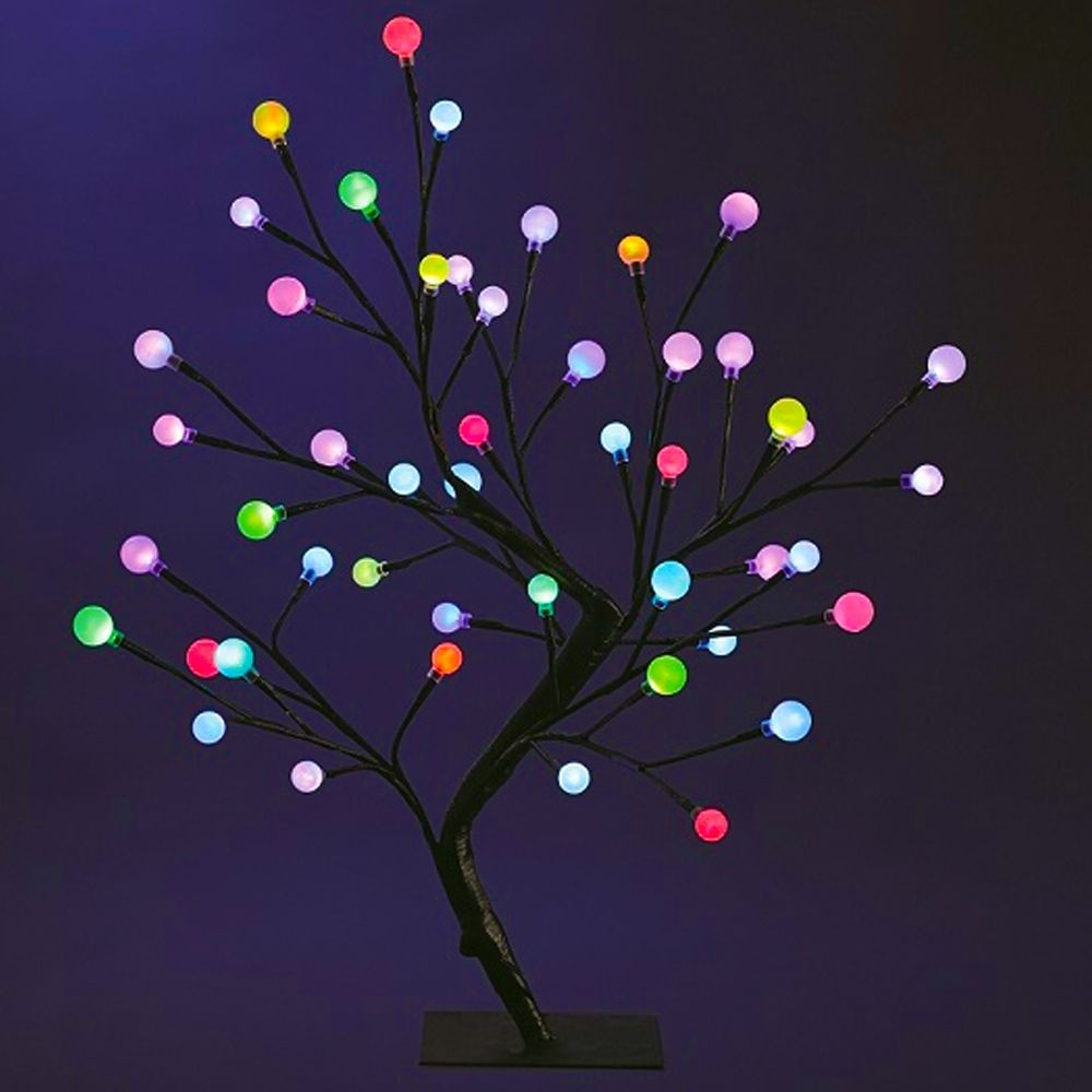 arbre lumineux 48 led couleurs changeantes 22 95. Black Bedroom Furniture Sets. Home Design Ideas