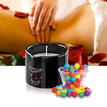 Bougie de massage gourmande Bubble Gum
