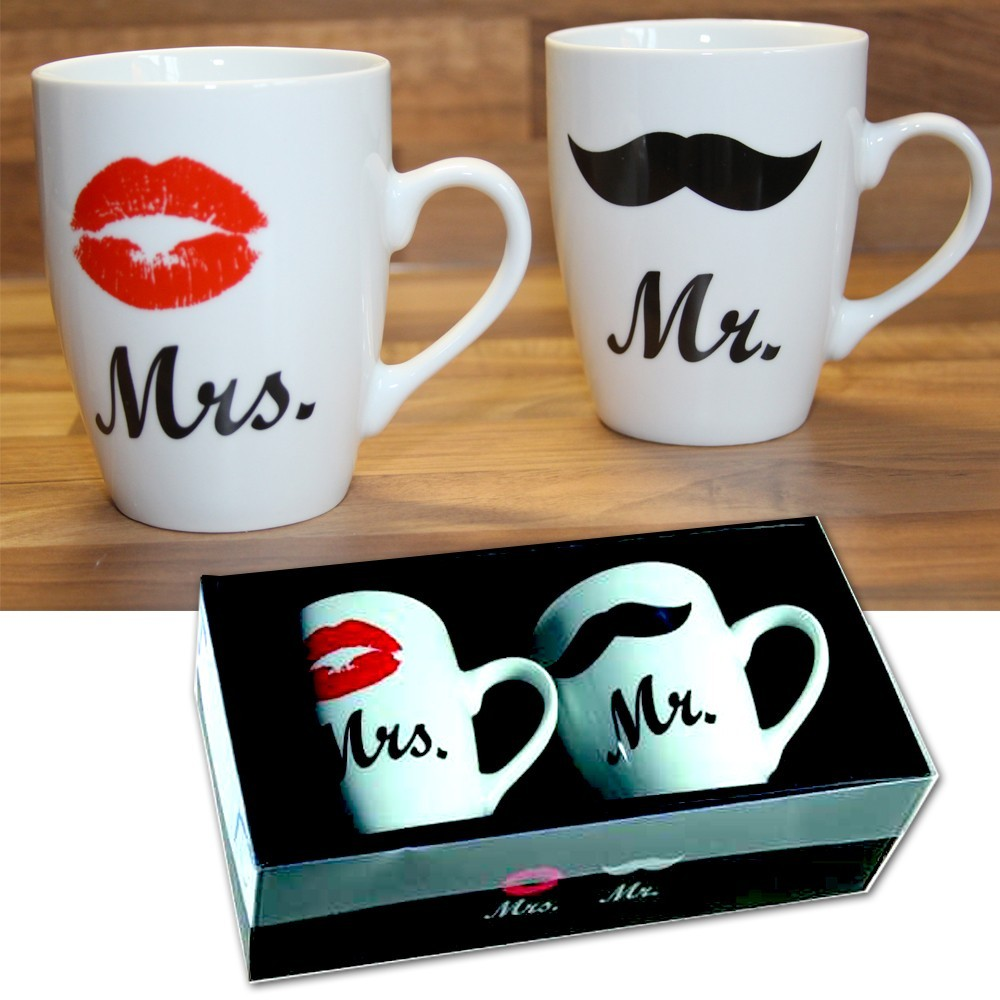coffret duo tasses mug mr mrs 8 76. Black Bedroom Furniture Sets. Home Design Ideas