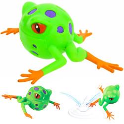 Balle grenouille rebondissante sur l'eau