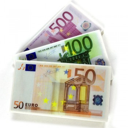 lot de 3 Gommes billet euros