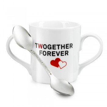 Mug Twogether et sa cuillère duo
