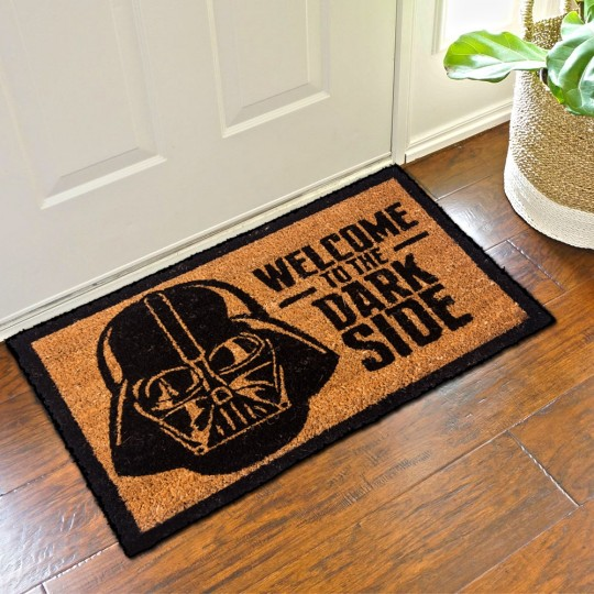 paillasson star wars welcome to the dark side 21 95. Black Bedroom Furniture Sets. Home Design Ideas