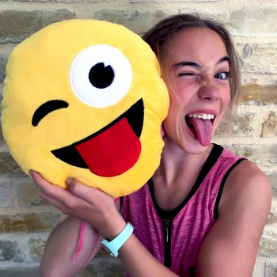Coussin Emoji espiègle