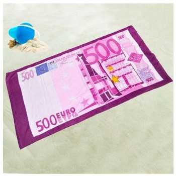 Drap de plage billet 500 euros