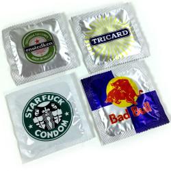 "Lot de préservatifs humoristiques ""Les assoiffés"""