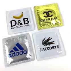 "Lot de préservatifs humoristiques ""Fans de Marques"""