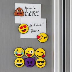 Lot de 9 magnets emoji