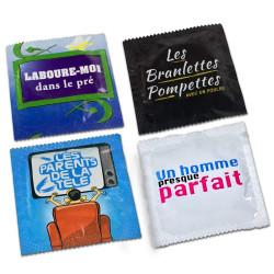 Lot de préservatifs humoristiques Fans d'émissions TV