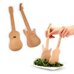 Set 2 cuillères en bois Guitare