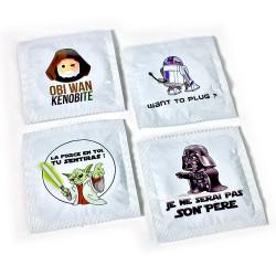 Lot de préservatifs humoristiques Fans de Star Wars