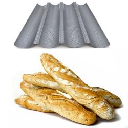 Plaque de cuisson 4 baguettes réversible 2 en 1