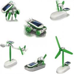 Kit jouet robots solaires 6 en 1