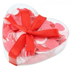 Confettis de bain coeur