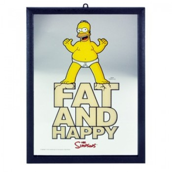 Miroir Homer Simpson fat and happy