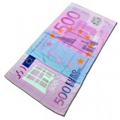 Drap de bain billet de 500 euros recto verso