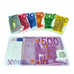 Ensemble de serviettes 7 billets de banque