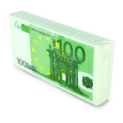 Mouchoir en papier billet de cent euros