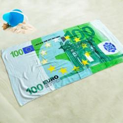 Drap de plage billet 100 euros