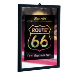 Miroir Route 66 Noir