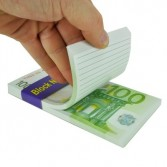 Bloc-notes Billet de 100 euros.