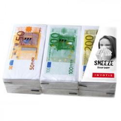Ensemble de Mouchoirs Billet Euro