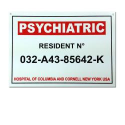 Plaque Psychiatric resident
