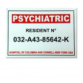 Plaque Psychiatric resident