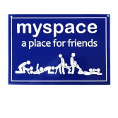 Plaque de porte Myspace