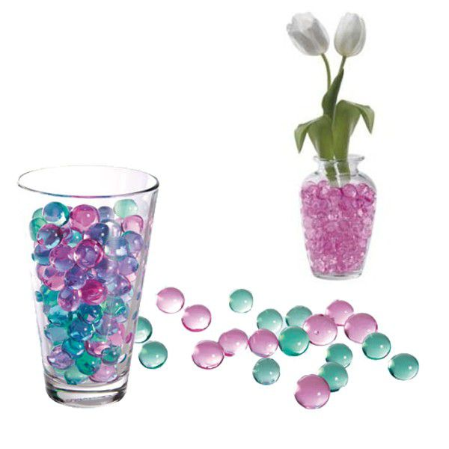 Billes d 39 eau gel noir pour plantes fleurs images frompo - Billes d eau pour plantes ...