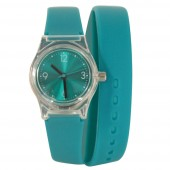 Montre double bracelet silicone
