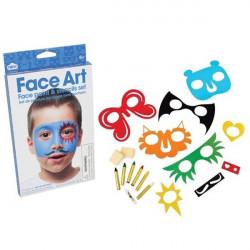 Kit maquillage facile pour garçon avec pochoirs