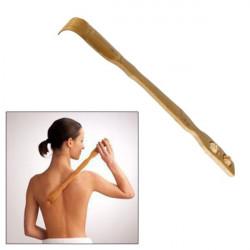 Gratte-dos en bambou avec roulettes de massage