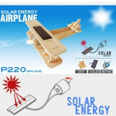 Avion biplan solaire puzzle en bois 3D