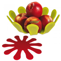 Corbeille à fruits 2 en 1 dessous de plat