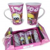 Coffret cadeau duo tasses I Love You Le Piaf