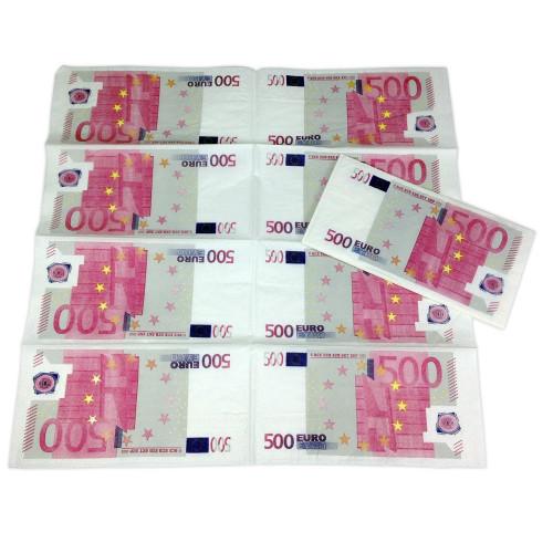 Serviettes en papier billets de 500 euros 1 95 for Cuisine 500 euros