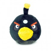 Angry birds Noir peluche sonore