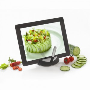 Support tablette tactile avec stylet chef 19 99 for Tablette tactile cuisine