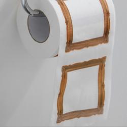 Papier toilette cadre oeuvre d'art