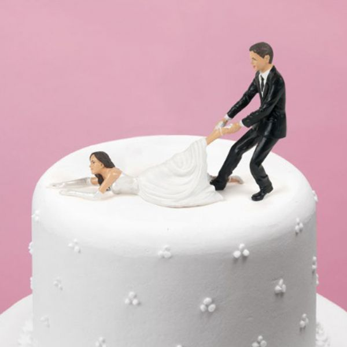 Figurine Pour Gâteau Quot Couple De Mariés Sur Une Moto Quot Avec ...
