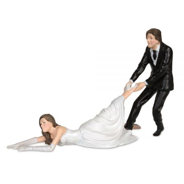 ... - Runaway Bride Wedding Cake Topper Figurine Funny Toppers Picture
