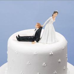 Figurines pour gâteau de mariage - Marié réticent