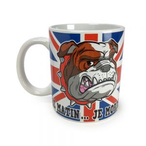 "Mug London Bulldog ""Le matin...je mords"""
