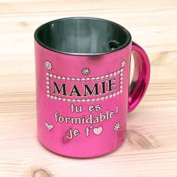 Mug métallisé strass MAMIE